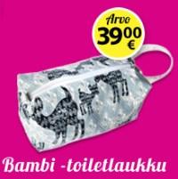 Fit-lehti tilaajalahja Bambi-toiletlaukku